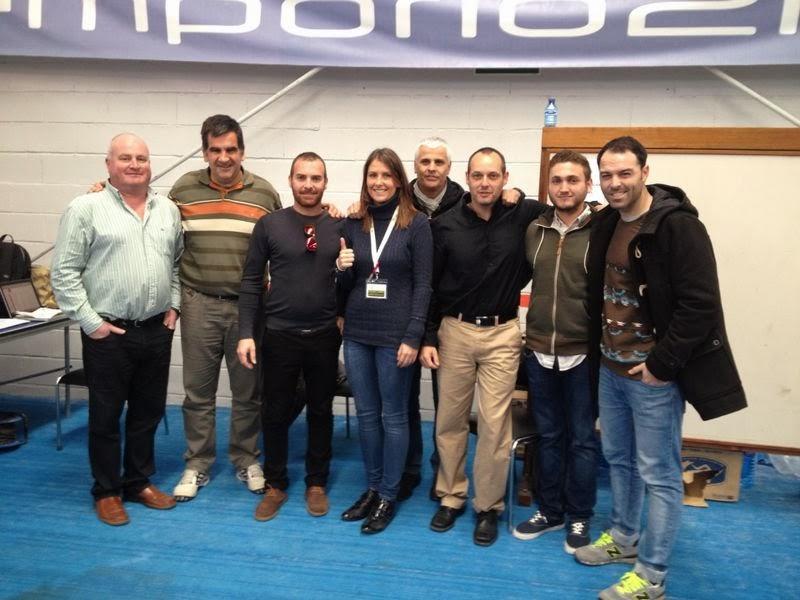 Equipo arbitral en el Campeonato de Andalucía por Equipos de 1ª Categoría