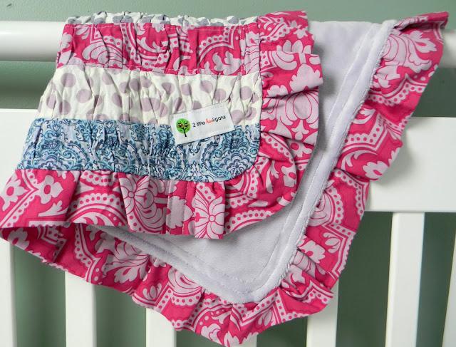 Quality Sewing Tutorials Ruffled Baby Blanket Tutorial
