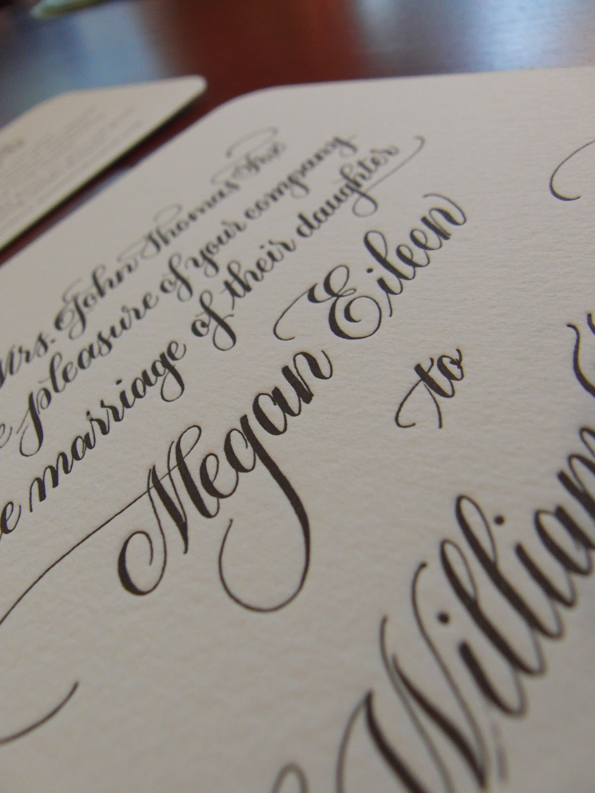Anne elser letter press wedding invitation suite Anne elser calligraphy