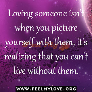 Loving someone isn't when you picture yourself with them