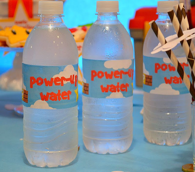 Mario party water labels