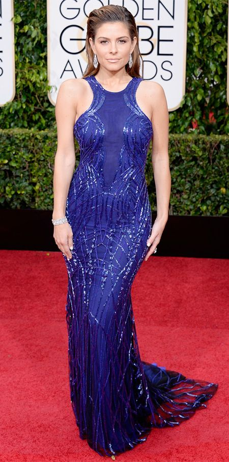 Maria Menounos in a Gabriela Cadena dress at the Golden Globes 2015