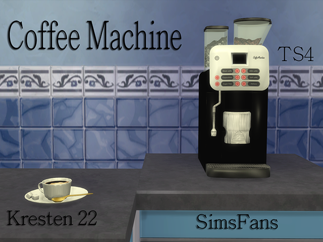 How To Use Coffee Maker In Sims Freeplay : My Sims 4 Blog: Espresso Coffee Machine by Kresten 22