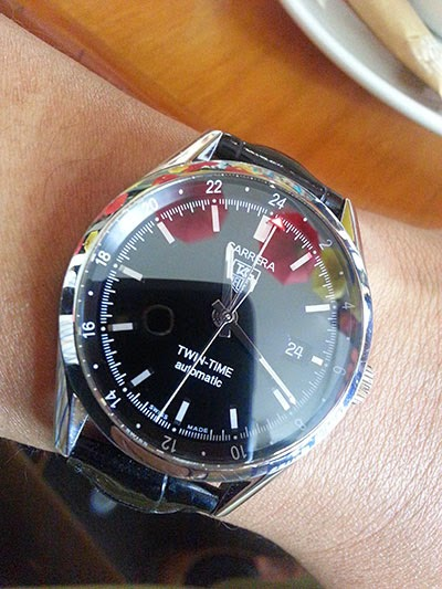 how to set tag heuer twin time