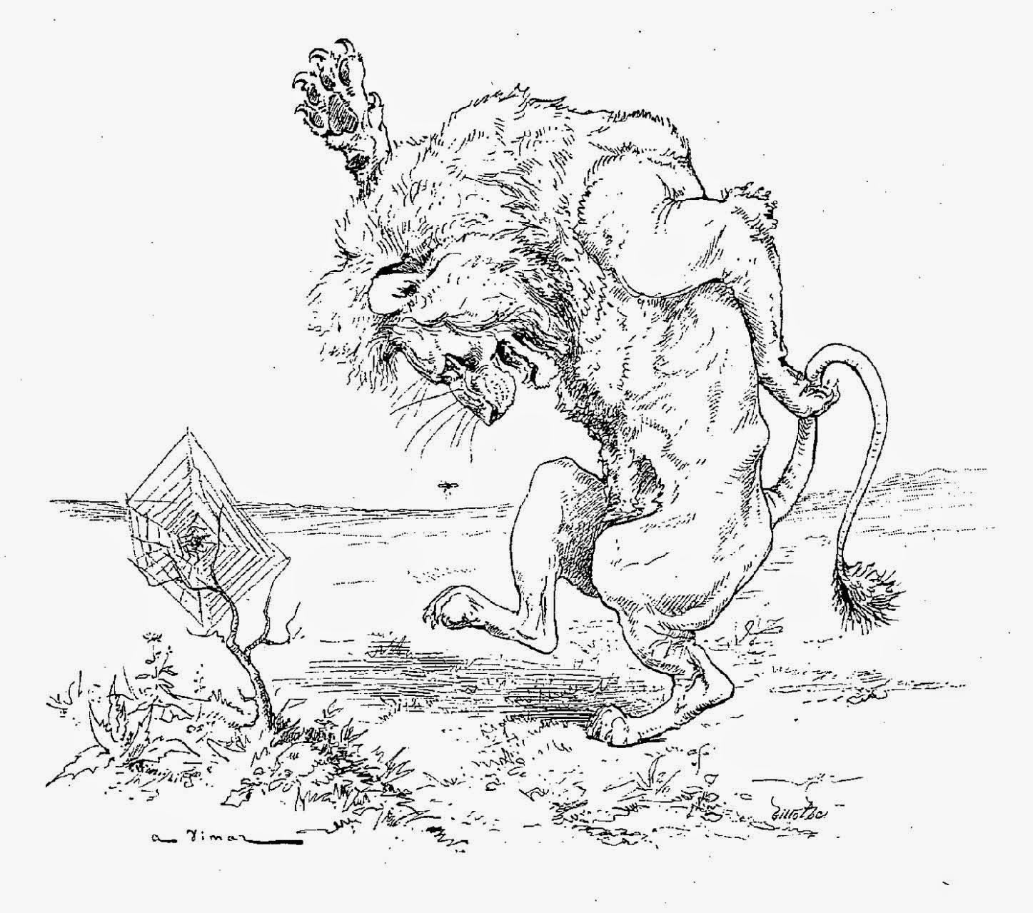 Extrêmement Fablimages : La Fontaine et ses illustrateurs: Le lion et le  UB02