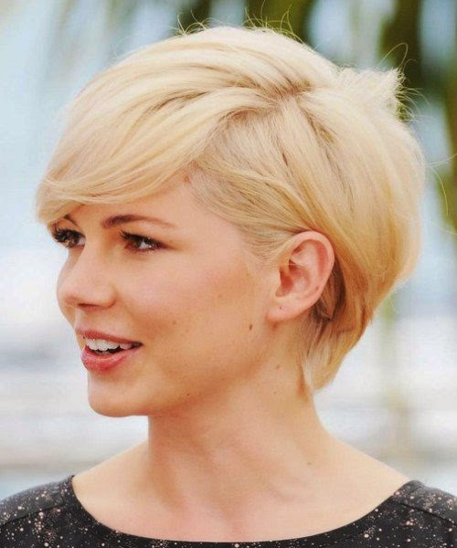 Latest Short Hairstyles for Round Faces 2014