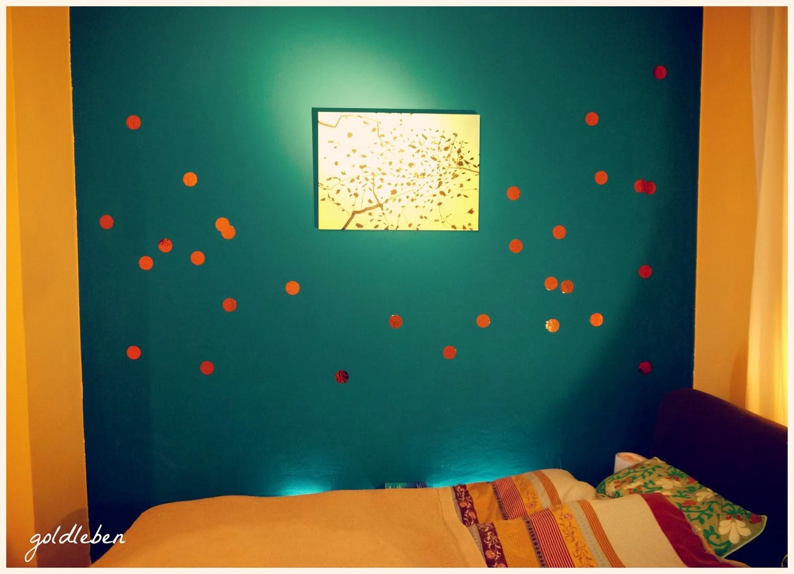 Kupfer Konfetti goldleben wanddeko mit kupferkonfetti