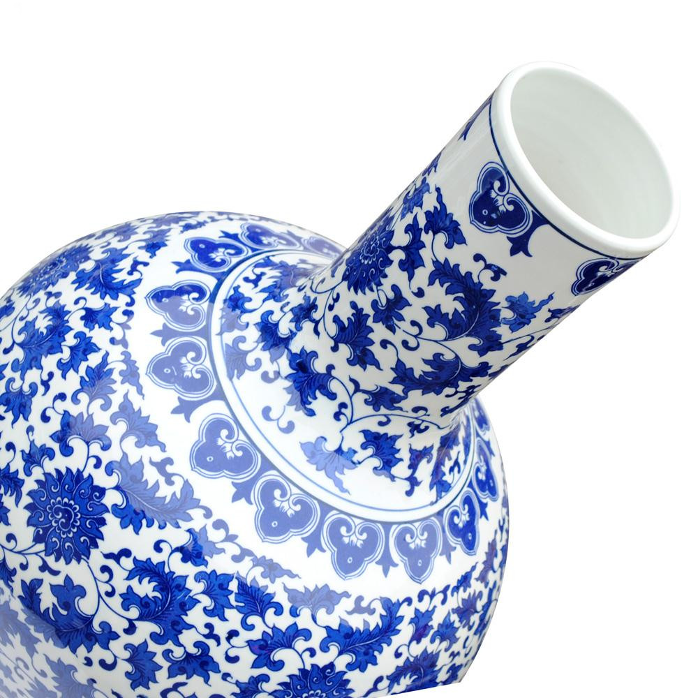 Blue and white pottery - Blue And White Pottery Jingdezhen Ceramic Ceramics Blue And White Porcelain Vase Modern Furnishings Genuine