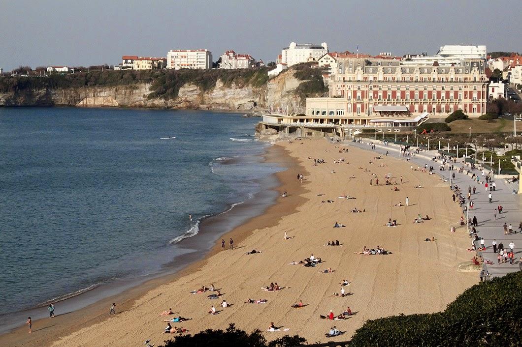 Grande Plage Biarritz, Biarritz (France).