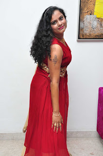 Asha Chowdary Pictures in Red Dress at Red Alert Audio Release Function 252814)