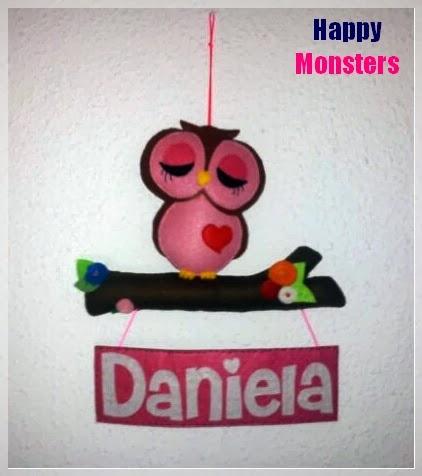 Happy monsters fieltro - Colgadores marta ...