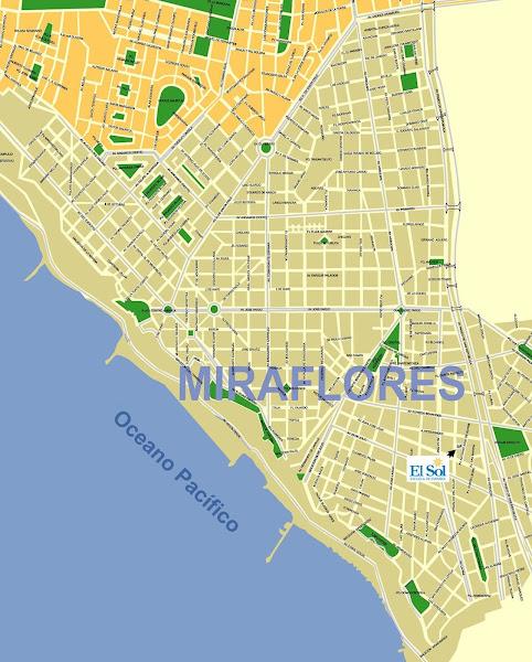 Mapa do bairro Miraflores - Lima
