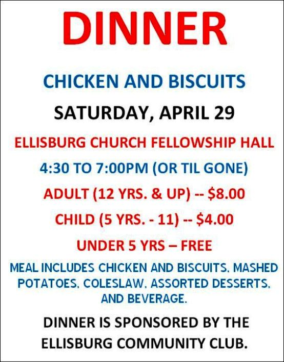 4-29 Chicken & Biscuits, Ellisburg