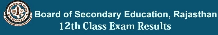 Rajasthan Board 12th Class Result