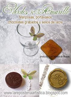 detalles para bodas mariposas portavasos sellos de lacre chocolates personalizados iniciales