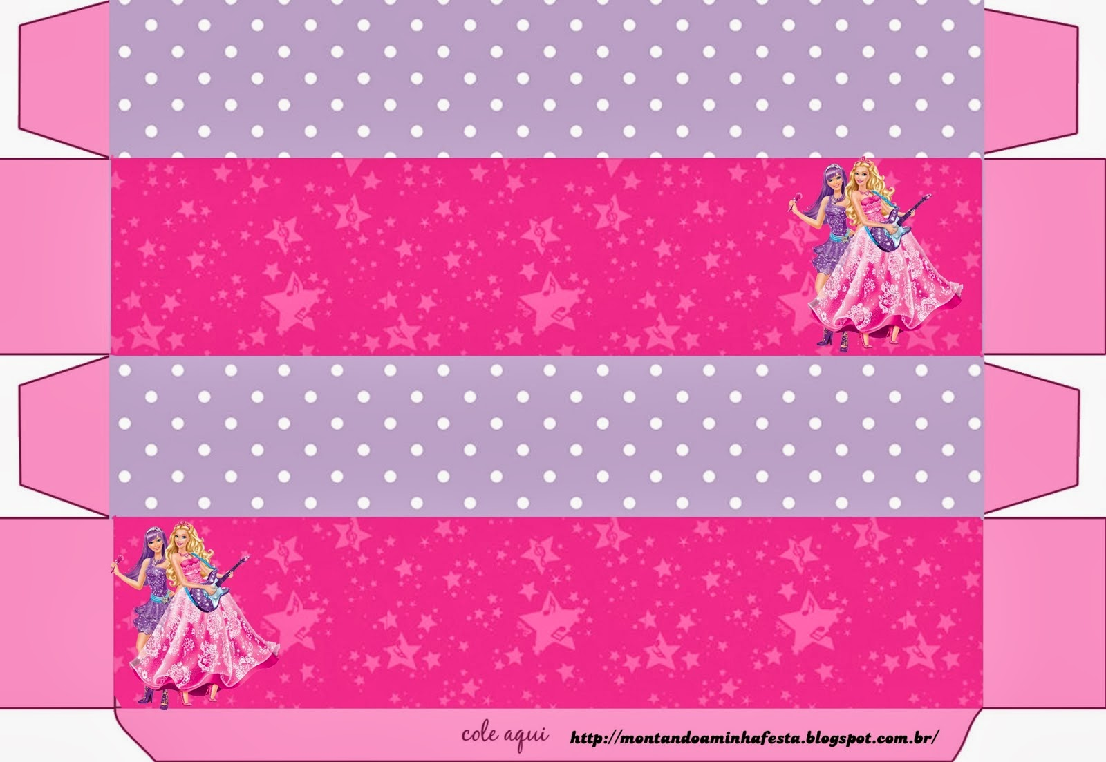 Fiestas de Barbie Rock Star: Cajas para Imprimir Gratis.