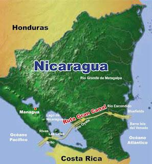 O grande canal chinês da Nicarágua