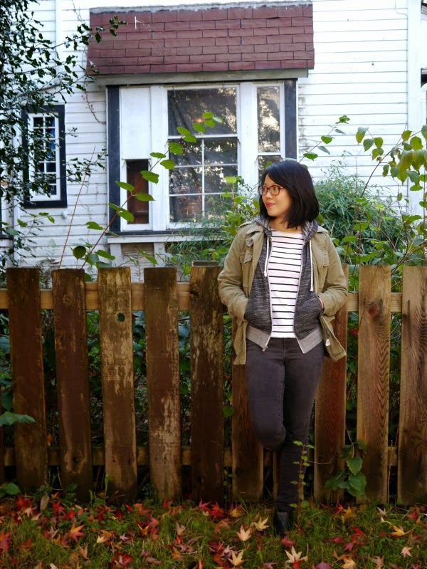 Casual, effortless weekend layering