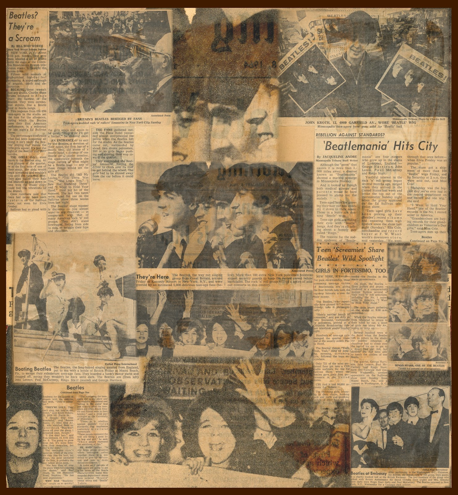 How to scrapbook newspaper clippings - 1964 Newspaper Clippings