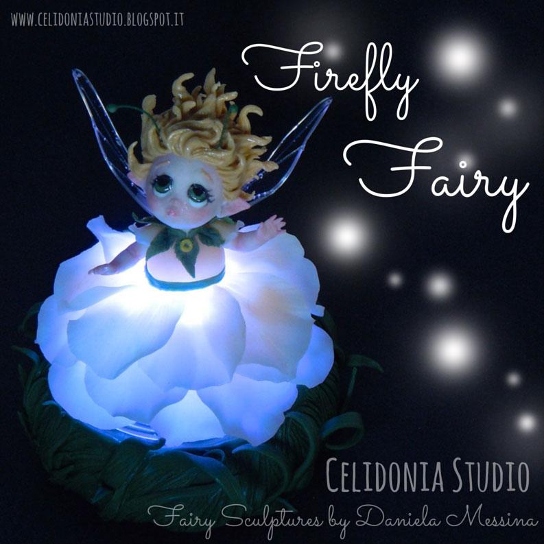 Firefly Fairy - La Fata Lucciola - Scultura in Pasta Sintetica
