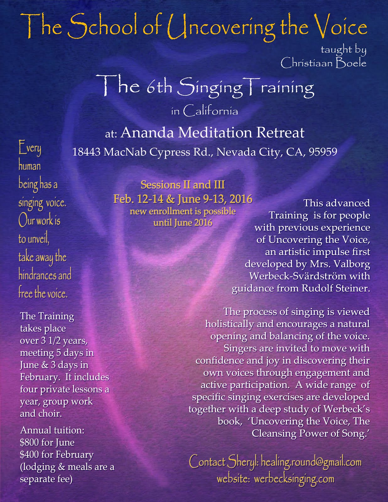 6th Foundational Singing Training