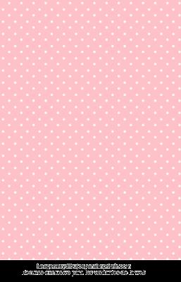 Lunares blancos en rosa celeste