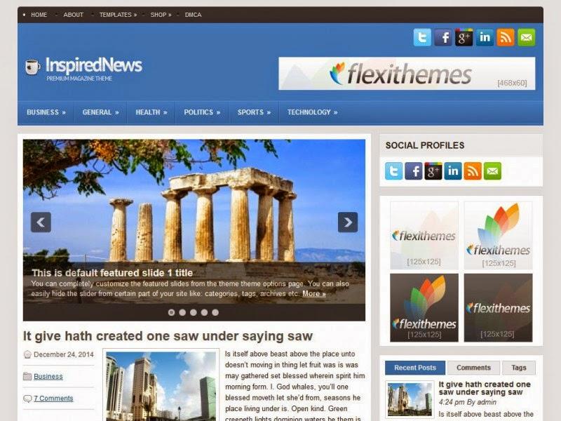 InspiredNews - Free Wordpress Theme