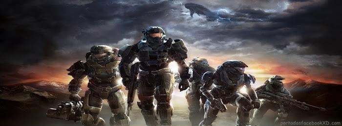 Imagen del videojuego Halo como portada de facebook