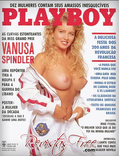 Vanusa Spindler - Revista Playboy - Junho 1989