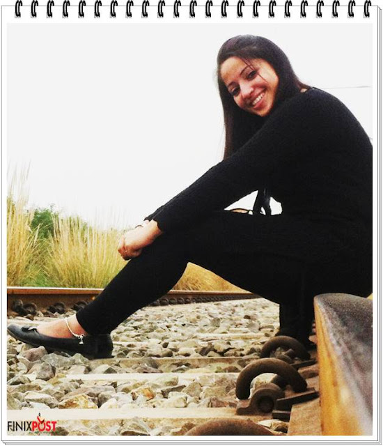 Manpreet Kaur on railway tracks