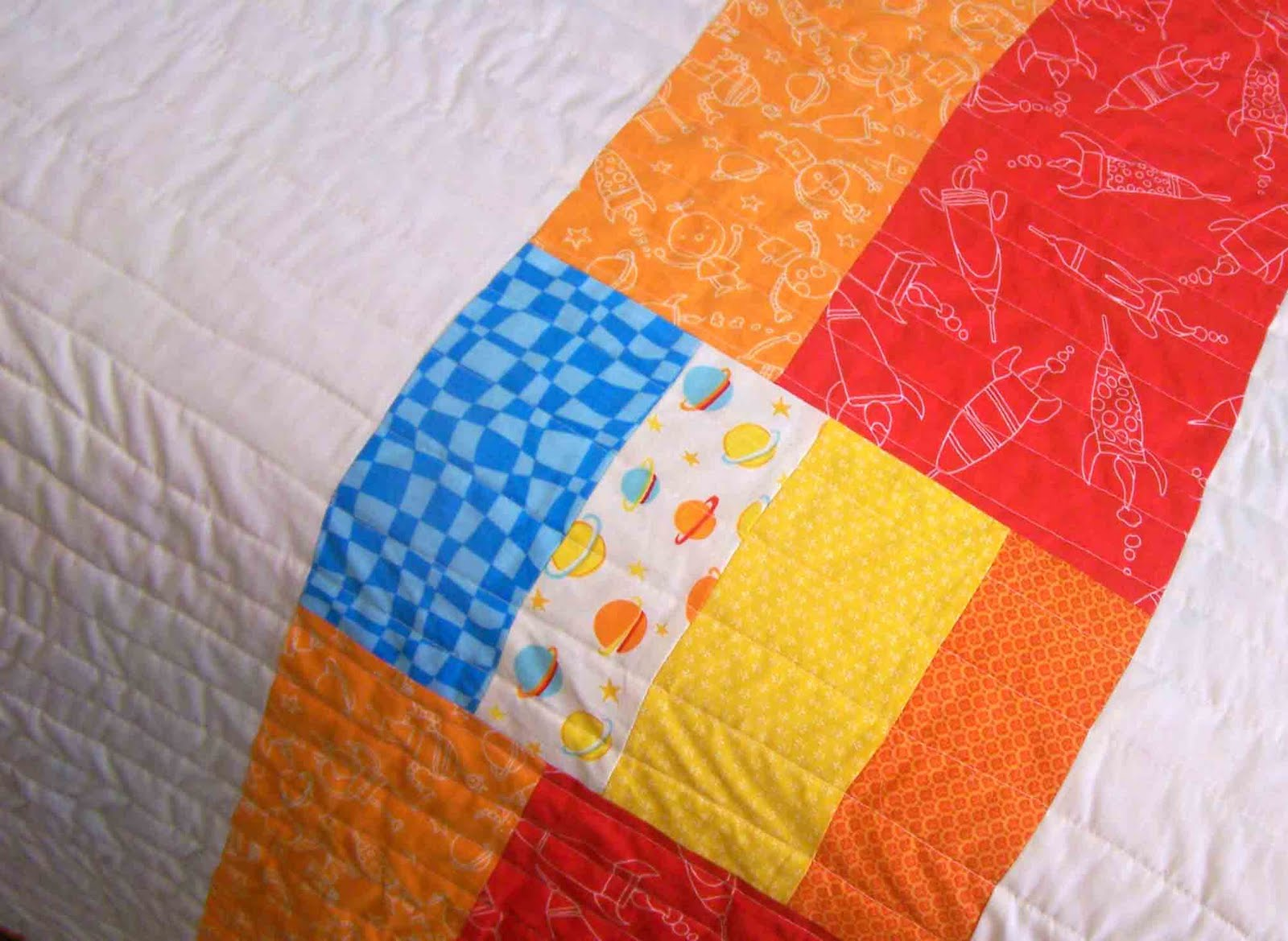 Made by me shared with you the rocket ship quilt for Spaceship quilt