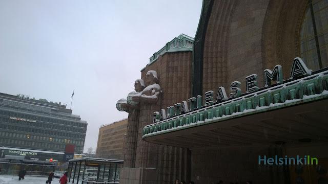 snow at Rautatieasema