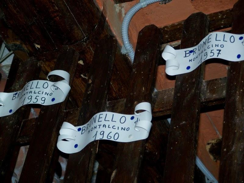 touring the wine cellar of Fattoria dei Barbi