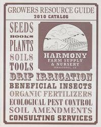 "Harmony Farm Supply's ""Growers Resource Guide"""