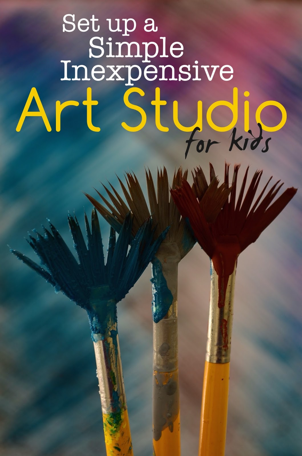 Inexpensive Art practical mom: setting up a simple, inexpensive art studio for