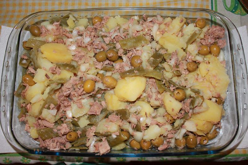 Paz y gloria en la cocina ensalada de jud as verdes con - Ensalada de judias verdes arguinano ...