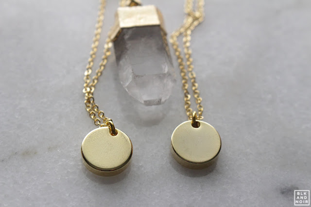 GOLD CIRCLE NECKLACES