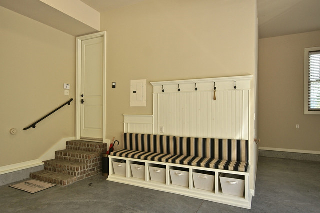 An Extra Long Bench Next To A Garage Door Keeps Outdoor Gear Tidy Hooks Cubbies And Cozy Seat Make It Easy For Kids Remember Take Off Their