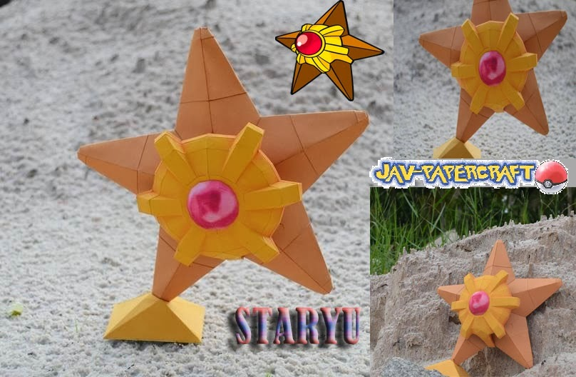 Pokemon Staryu Paper Model