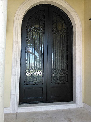 Faux painting front doors burnished metallic everything for Faux wood front doors