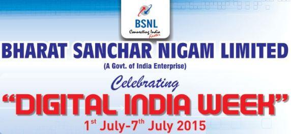 BSNL Digital India Week Celebrations