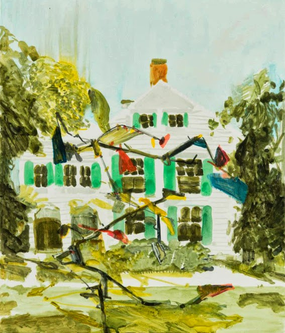 The house next door (Michael Taylor, 2013, Water- and oil based monotype on Zerkall Intaglio 250gsm, 81x69cm, published by Warren Editions)