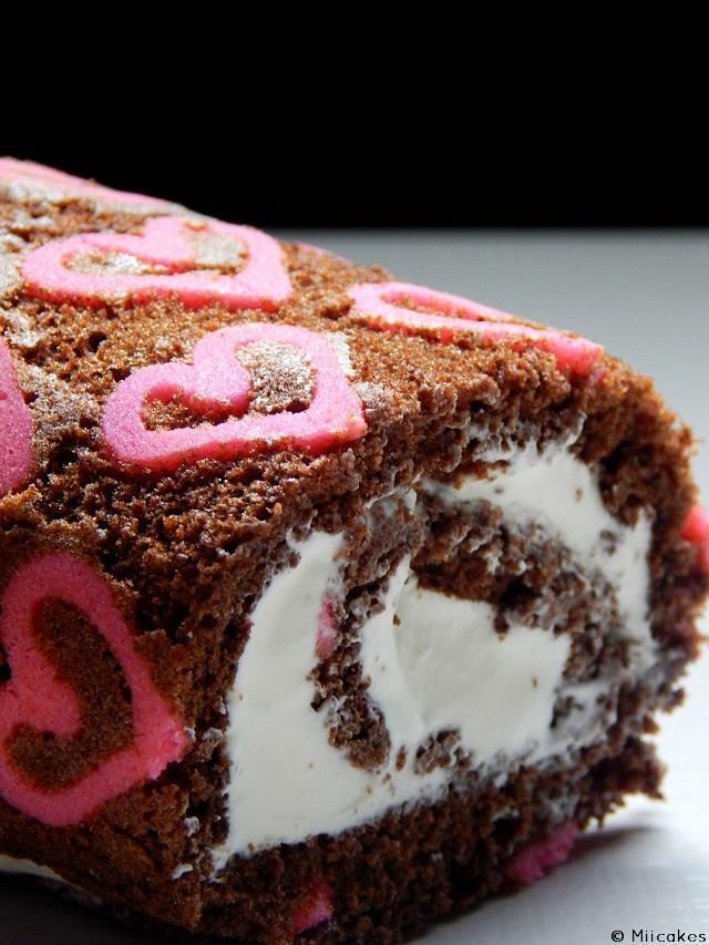 Heart patterned cake roll + hacelo dulce #7