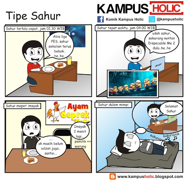#204 Tipe Sahur, mahasiswa komik kampus holic