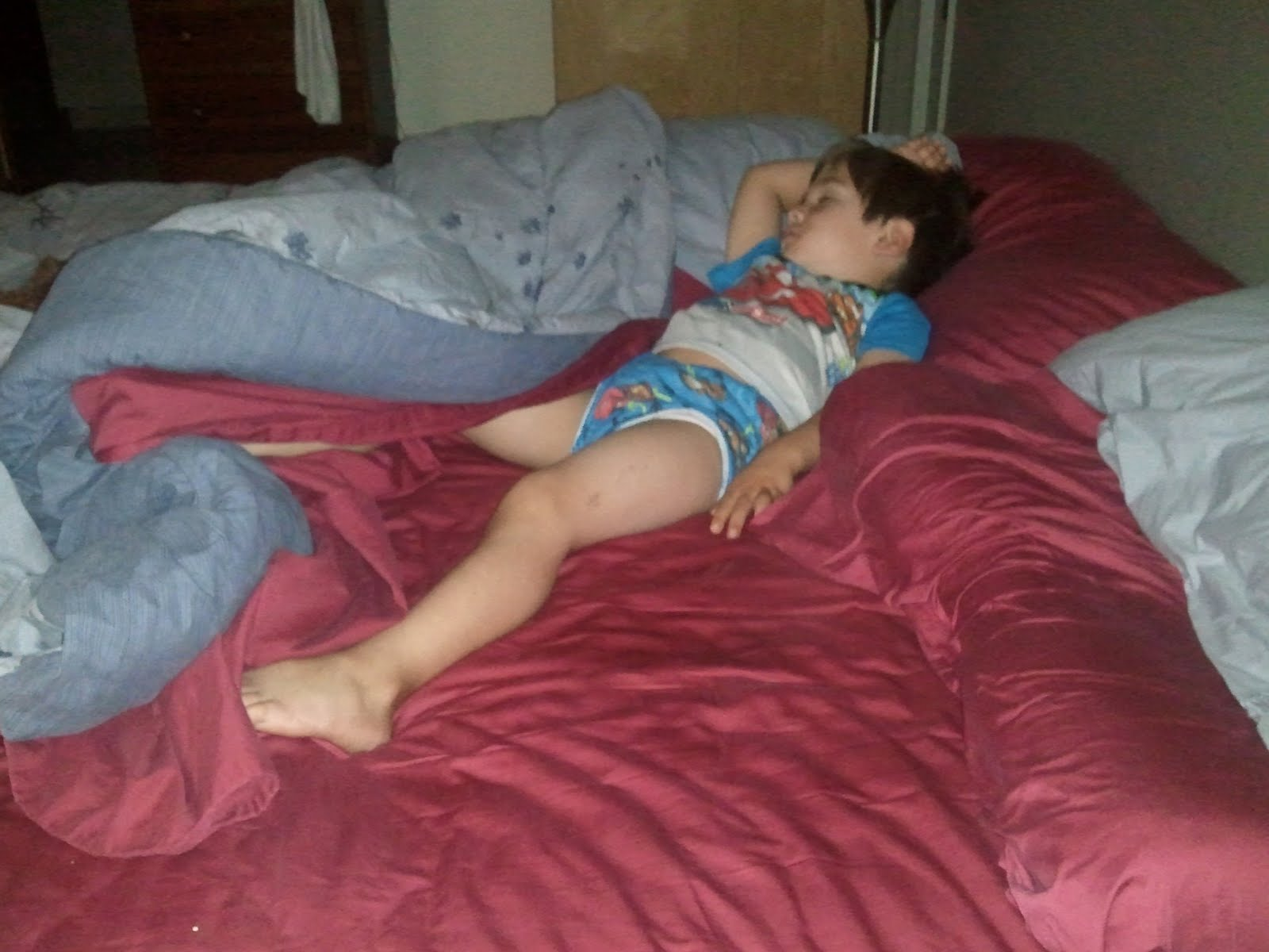 Boy in picture sleeping underwear