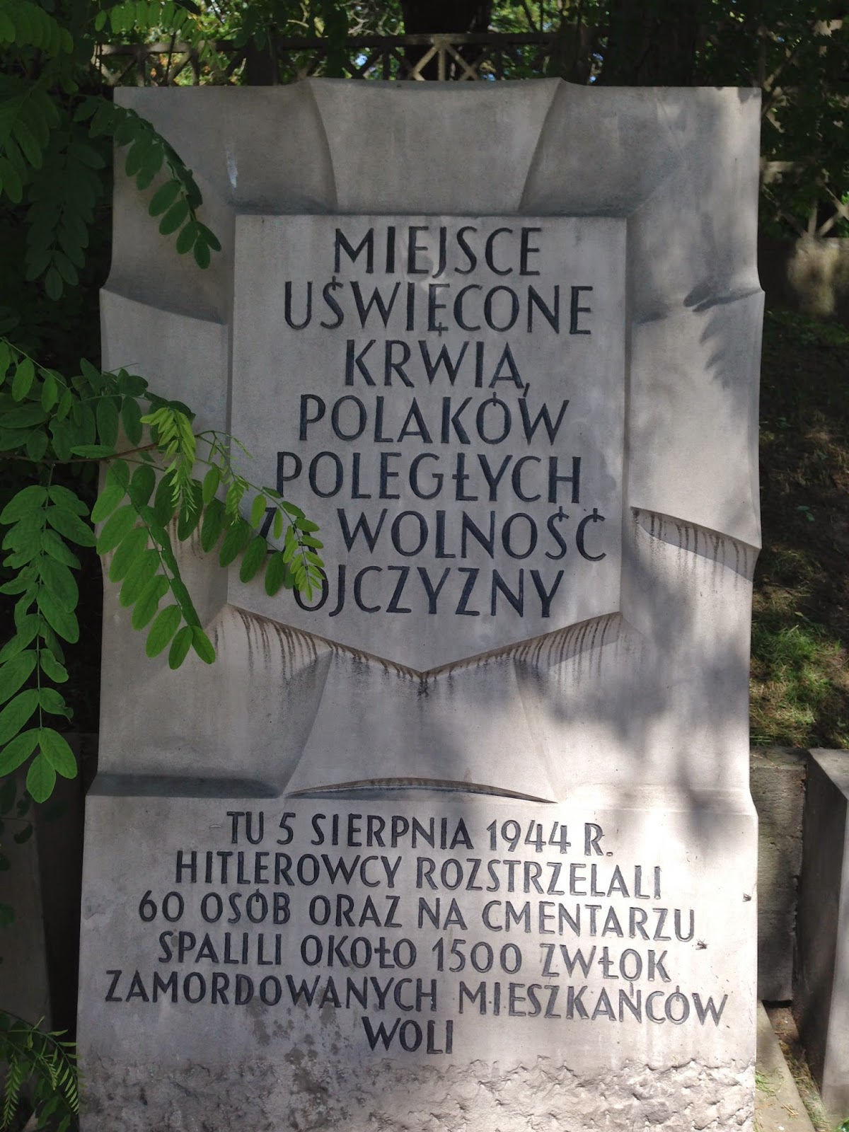 Marker of a Nazi Massacre of Civilian Poles in Wola, by Maja Trochimczyk