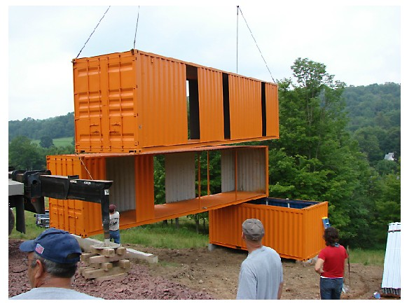 Shipping container homes tim steel structures for Steel shipping container home designs