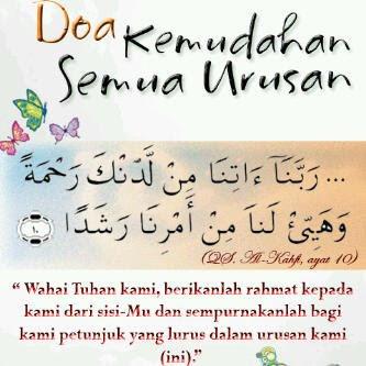 Doa Dipermudahkan Urusan