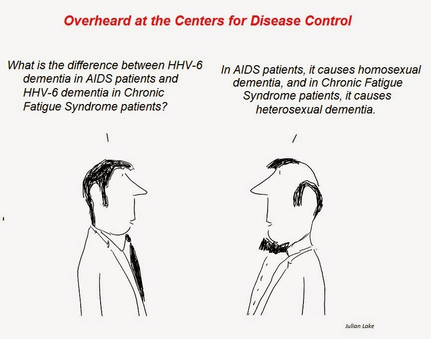 aids dementia, cfs dementia, cartoon, cfs , julian lake, auci, nih, cdc