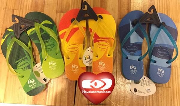 Havaianas coleção Olimpíadas Rio 2016 slim modelo carioca